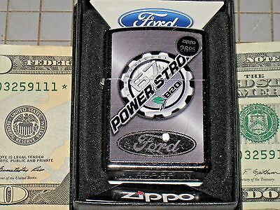 New USA Genuine Windproof Zippo Lighter 46501 Ford 6.7 Powerstroke Turbo Diesel