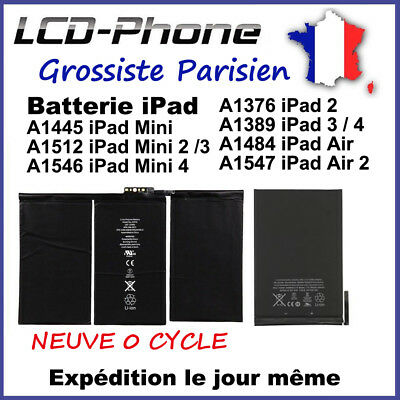 BATTERIE INTERNE iPad 2/3/4 Air 2 Mini 2/3/4 NEUVE 0 CYCLE - ORIGINAL