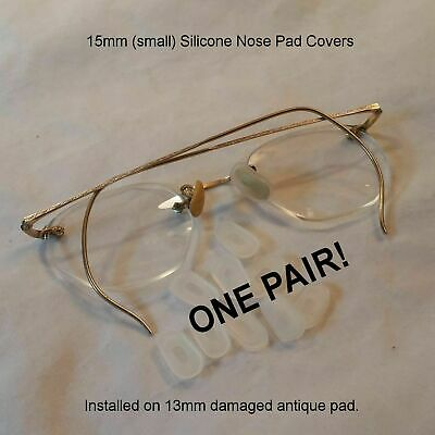 Generic 15mm NEW Silicone Nose Pad Covers for antique eyeglasses