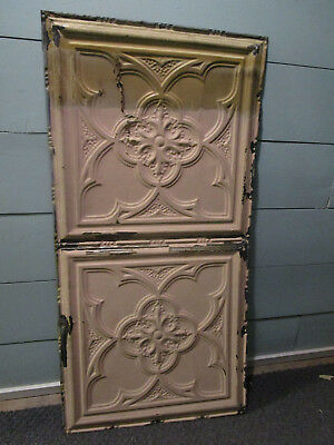Antique Decorative Tin Ceiling Double Tile Panel (4'x2').