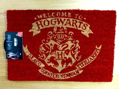 """Paillasson Harry Potter """"Welcome to Hogwarts"""" Neuf"""