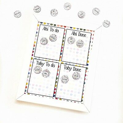 kids chore chart family task lists kids to do and done family