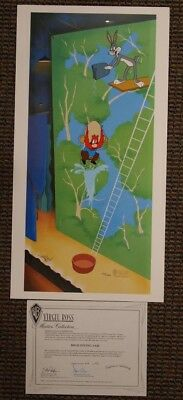 S/O High Diving Sam Signed Virgil Ross Yosemite Bugs Warner Looney Tunes Art UF
