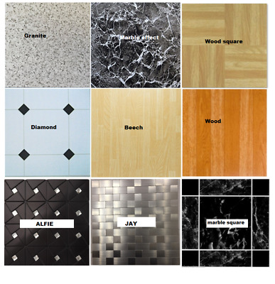 Self adhesive Vinyl Floor tiles Marble Wood Diamond Granite effect tiles
