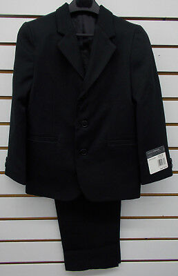 Boys Perry Ellis $85 2pc Black Suit Size 6 - 18