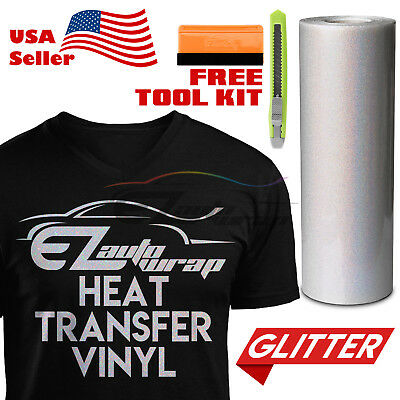 "Copper Orange Glitter Heat Transfer Vinyl HTV T-Shirt 20/"" Iron Heat Press DG10"
