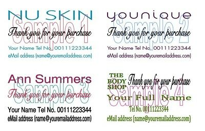 Business Card Thank You Cards 50 For Younique Nu Skin Ann Summers The Body Shop