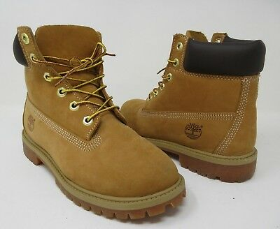 "Timberland Junior's Wheat Yellow Suede Classic 6"" Boots 12909 Sz 5"