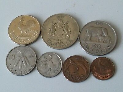 MALAWI COIN SET 1+2+5+10+20 Tambala 1 Kwacha 1995-2004 UNC UNCIRCULTED LOT of 6