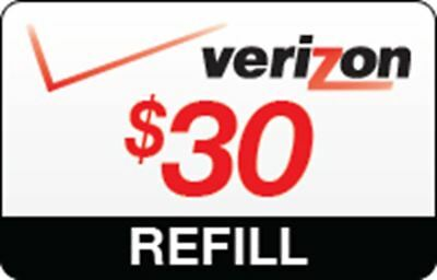 Verizon Wireless $30 Prepaid Refill Card (Email/Ebay Message Delivery)