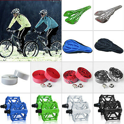 Bicycle Accessories Bike Cycle Seat Pad Saddles Platform Pedals Handle Bar Tape