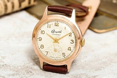 1958 Vintage White Start USSR Russian Soviet Mens Watch with new strap