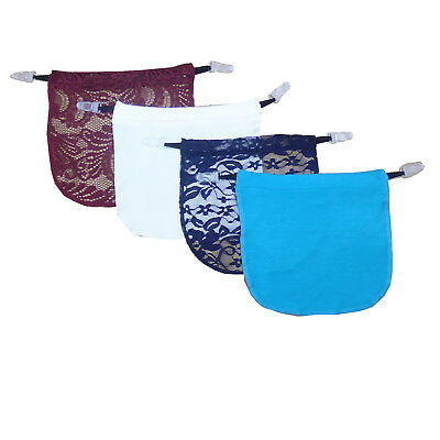 4 Pack Modesty Panel Insert With Garter Clip on Cami Panels  Various Color Set 5