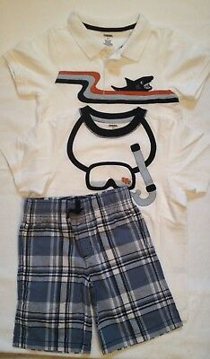 GYMBOREE Boys SHARK Lot of three Shorts Set OUTFIT EASTER Spring Size 5 5T NWT
