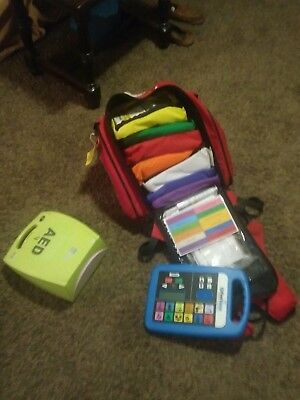 First Voice first aid backpack. Everything is brand new never used or opened.