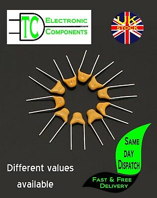 Multi Layer Disc Ceramic Capacitors 10 pack (many values available)  *UK SELLER*