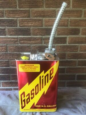 NEW OLD STOCK Vintage NOS 1 One Gallon METAL GAS CAN