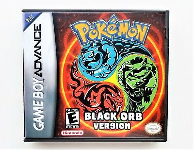 Pokemon Black Orb (w/ Case) Game Boy Advance GBA Custom Fan Hack (USA Seller)