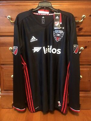 best service 2b461 31ad5 NWT D.C. UNITED 2016/17 L Home Adidas Soccer Jersey Football ...