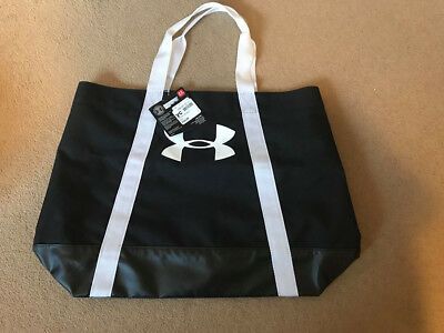 Under Armour New Women`s Ladies Tote Sports Shopping Shoulder Bag Black & White