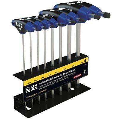 Klein Tools Jth98M Metric Journeyman T-Handle Hex Key Set With Stand (8-Piece)
