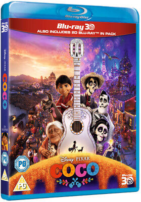 Coco (2017) Disney Pixar 3D + 2D Blu-Ray with slipcover BRAND NEW Free Ship