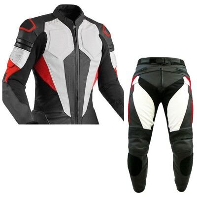 BLACK,RED SPORTS-2 Piece-Motorbike/Motorcycle Riding Leather Racing Suit-MotoGp