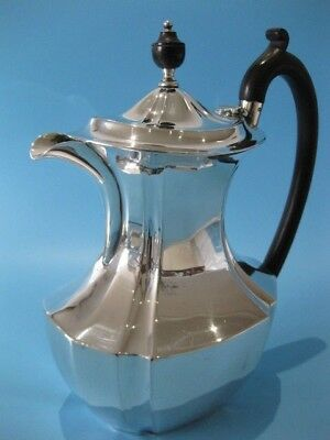 Beautifully Elegant Antique Large Silver Plated Panel Design Oval Coffee Pot