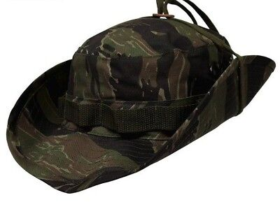 Nwt Rothco Military Jungle Tiger Stripe Hunting Fishing Camouflage Boonie Hat