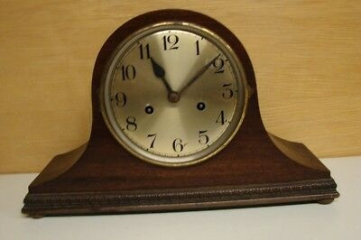 D278 Vintage Baduf Single Gong Mantle Clock for Restoration or Spares with a Bad