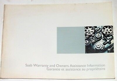 SAAB Warranty Owners Assistance Information 2003 Original Booklet English French