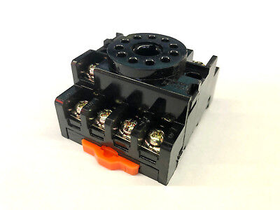 NEW ANLY PF113A 11 Pin Octal Type Relay Socket, 10 AMP 250 VAC DIN Rail Mount