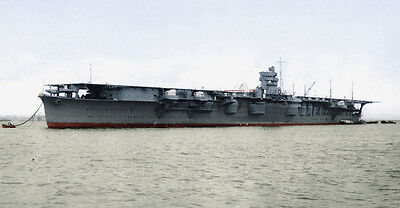 COLOR WW2  Photo Japanese Carrier IJN Hiryu WWII World War Two Empire of Japan