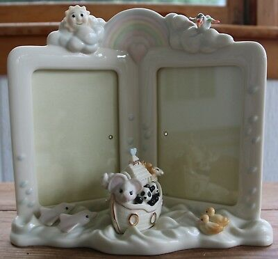 Lenox Noah's Ark Double Picture Frame for Baby