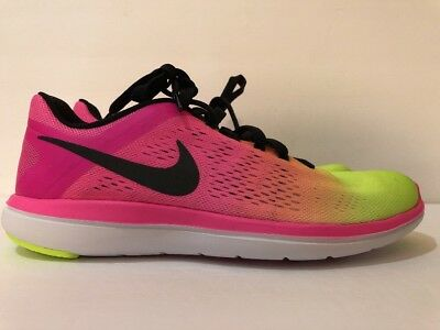 8ee1d28dbbe0c Men Nike Flex 2016 RN OC Olympic Running Shoes Multi Colors 844737-999 Size  7