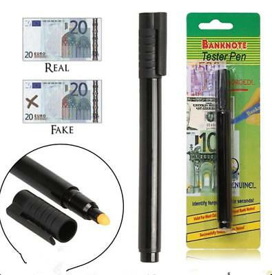 2X Bank Note Tester Pen Money Checking Detector Marker Fake Banknotes Office new