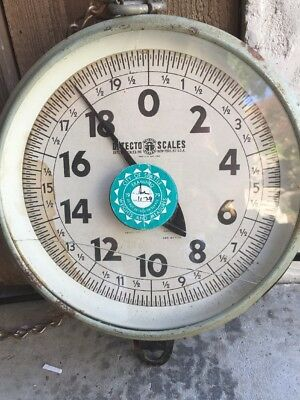 Vintage Detecto 60 Lb Industrial Factory Warehouse Produce Iron Scale
