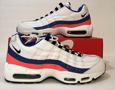 2a198570115 Nike Air Max 95 Essential White Black Solar Red Men s Shoes Size 11 (
