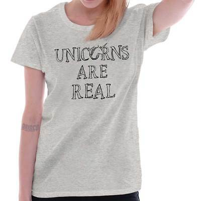 Unicorns Are Real Chubby Believe Magical Womens Tees Shirts Ladies Tshirts