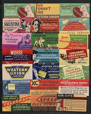Us Western Union Telegraph Collection 50 Labels Og Most Mh 6 Scans