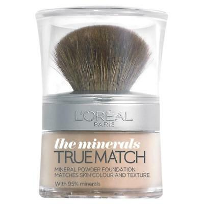 3 X L'Oreal Paris True Match The Minerals Foundation W4 Golden Natural