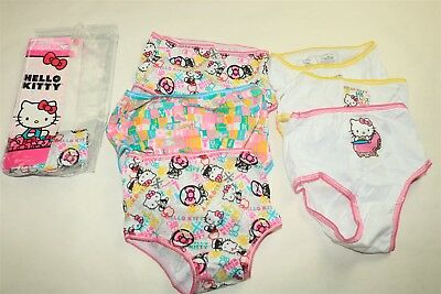 LOT OF 7 HANDCRAFT HELLO KITTY Toddler Girl's Printed Briefs Panties - 4T