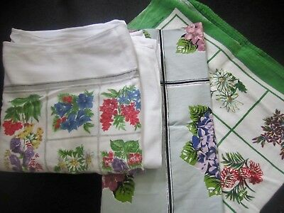 Lot of three cute vintage tablecloths