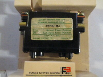 """Furnas Overload Relay / 48DA18A / Bimetal Ambient Compensated""  New In Box"