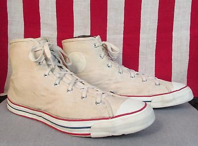 Vintage 1950s Jeepers Canvas High-Top Sneakers Sears Athletic Shoes Sz.14 Huge