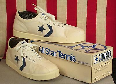 Vintage 1980s Converse All Star Tennis Shoes Sneakers Original NOS Sz.13 w/Box