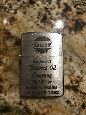 Gulf Oil Lighter - Vintage Oil And Gas