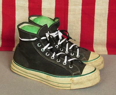 Vintage 1950s Bob Cousy Black Canvas Basketball Sneakers Size 6.5 High Top Nice