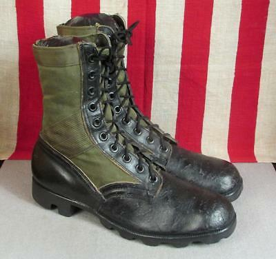 Vintage 1960s US Army RO Search Tropical Combat Boots Vietnam War Sz.10 Military
