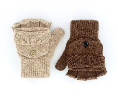 Alpaca US Glittens Unisex S M L Fawn or Brown NEAFP Made in the USA